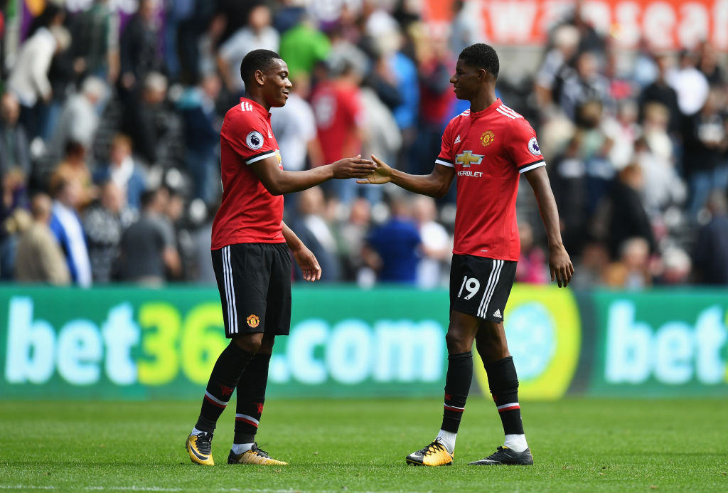 Martial and Rashford both want that number 9 spot.