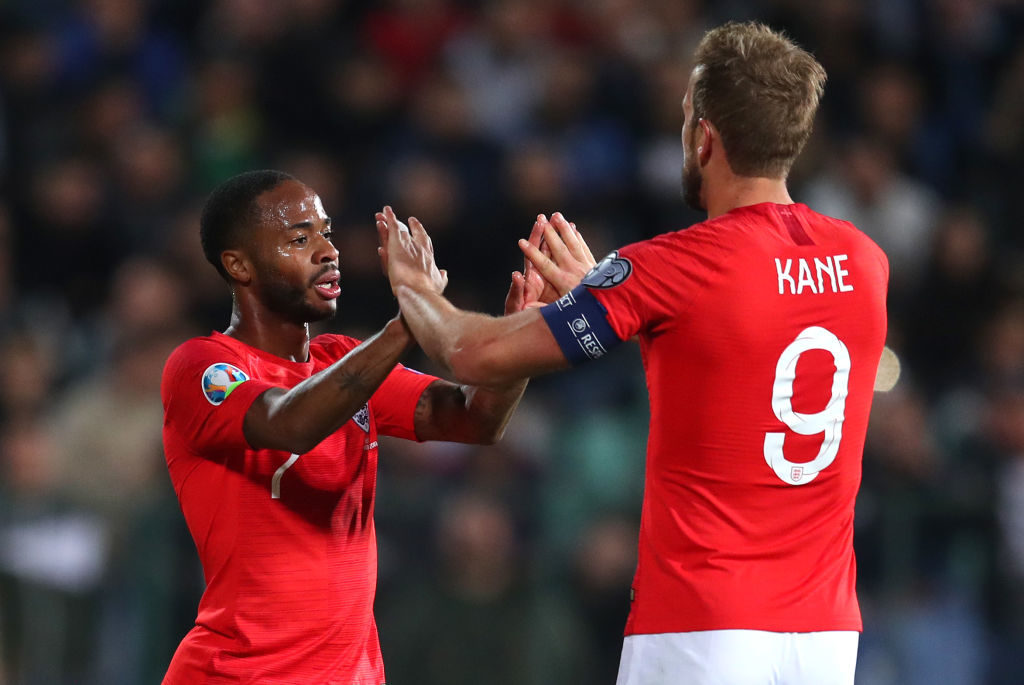 Spurs have been linked with Harry Kane's England teammate Raheem Sterling
