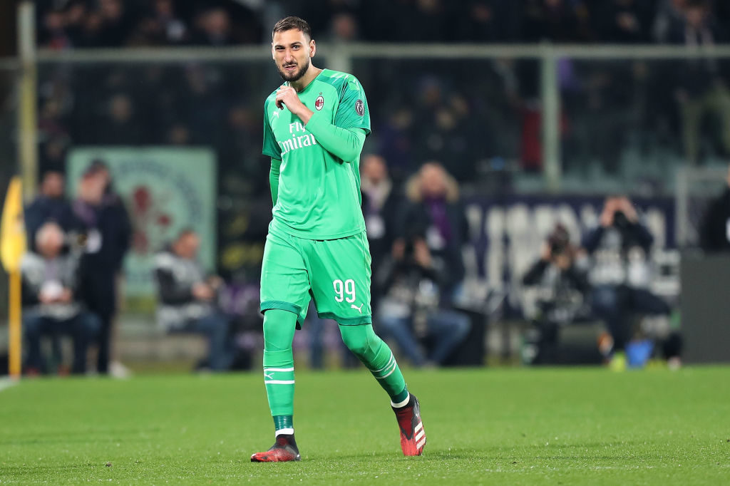 Donnarumma is set to leave AC Milan for free.