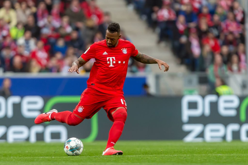 Jerome Boateng in action for Bayern Munich.