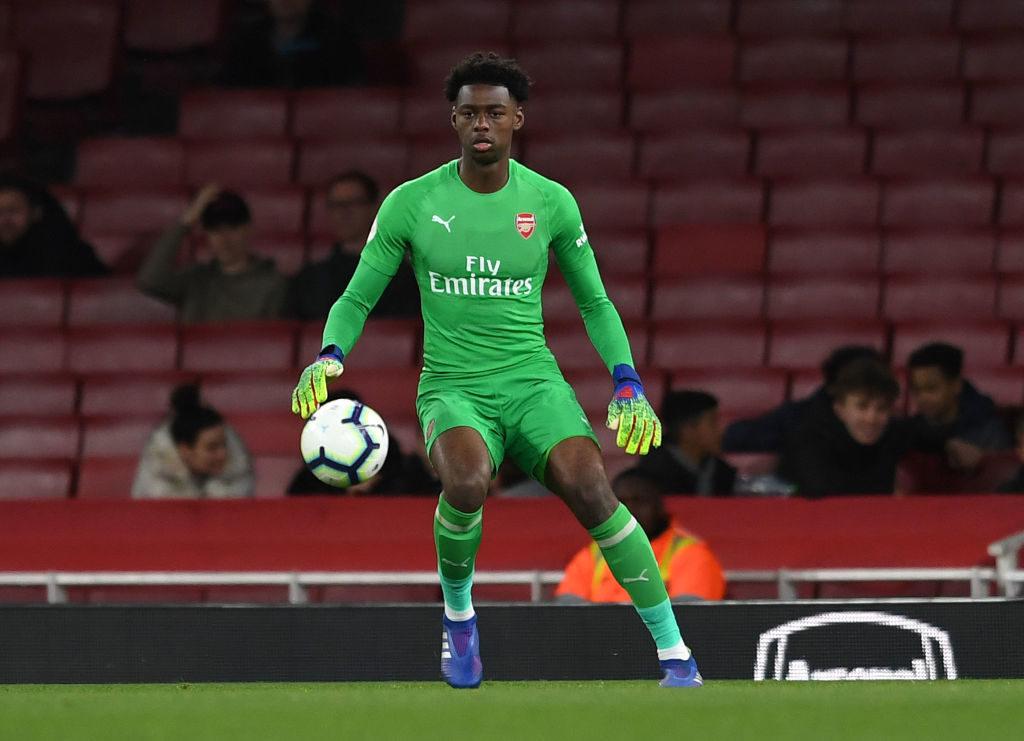Arsenal goalkeeper Arthur Okonkwo has signed a new contract with the Gunners and has been promoted to the first-team squad