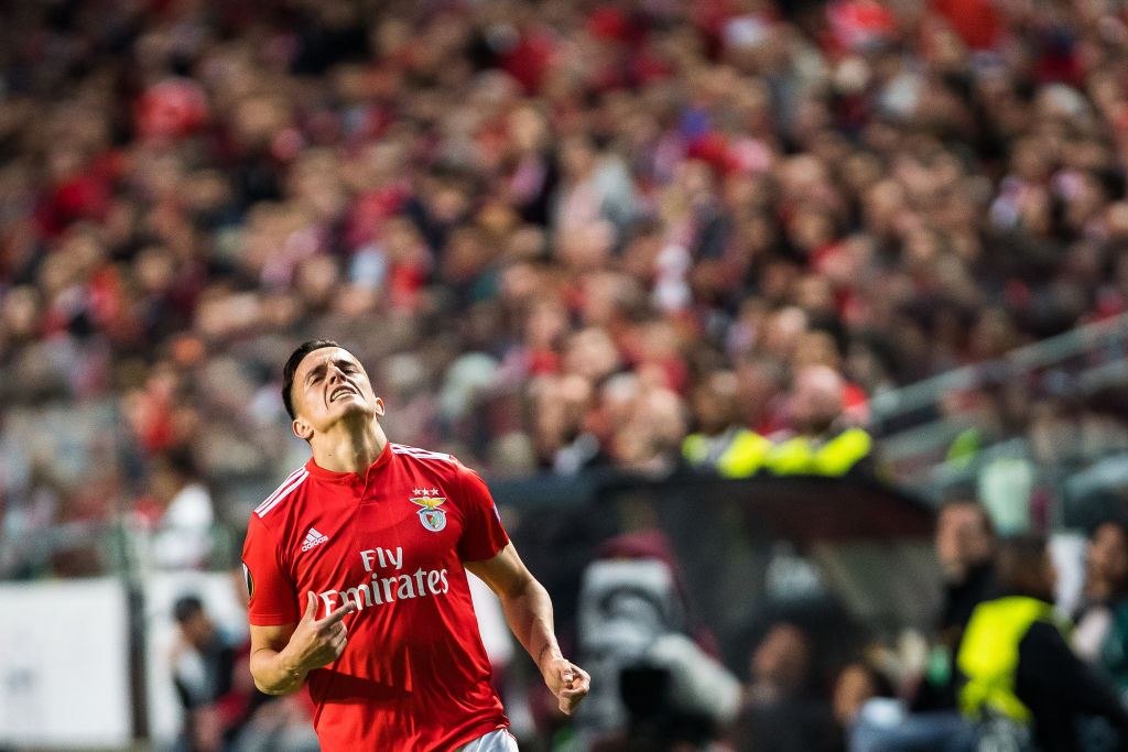 Franco Cervi of SL Benfica in action during the UEFA Europa