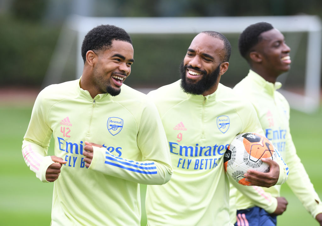 Trae Coyle in training with Alex Lacazette