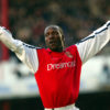 Arsenal's French player Lauren celebrates a goal d