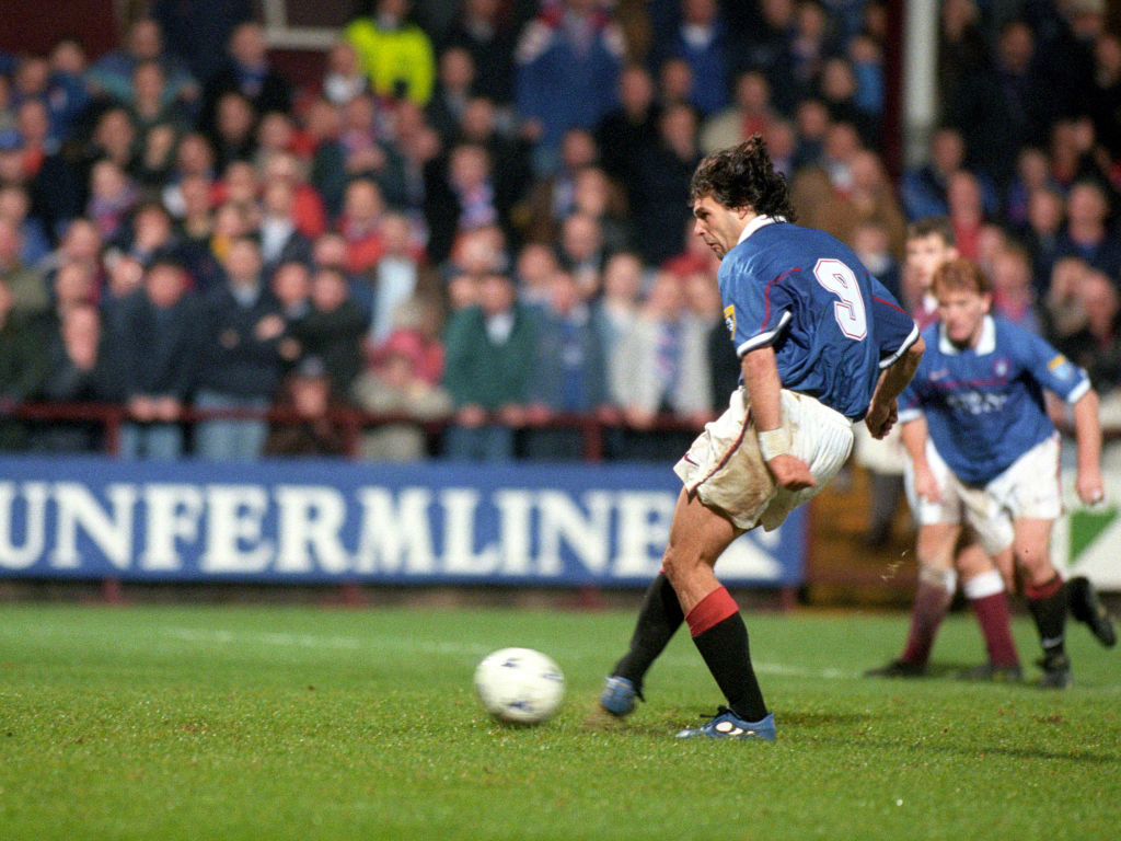 20/12/97 Bell'S Premier Division.Hearts V Rangers (2-5).Tynecastle - Edinburgh.Marco Negri Converts From The Penalty Spot To Score Rangers' Third Goal Of The Game.