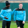Soccer - Barclays Premier League - Manchester City Training - Carrington Training Ground