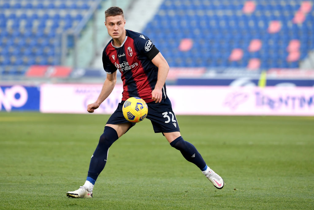Mattias Svanberg of Bologna FC in action during the Serie A...