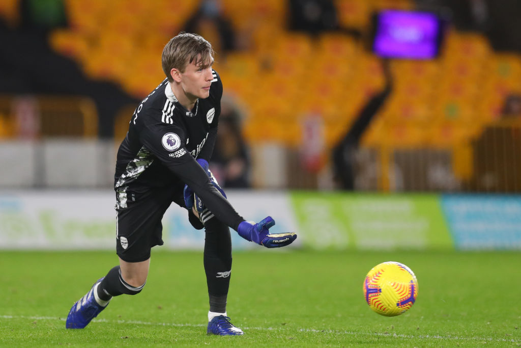 Arsenal are set to loan out Alex Runarsson