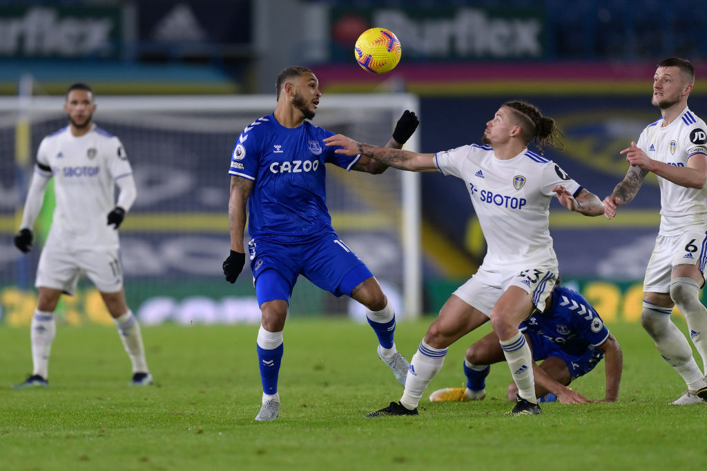 Josh King in action for Everton.