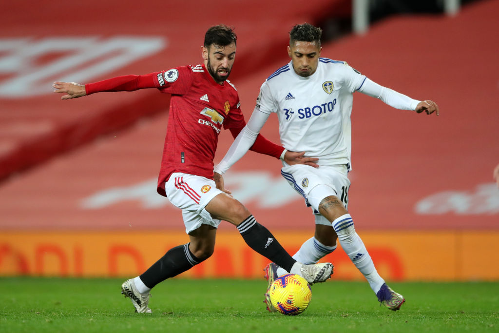 Raphinha in action for Leeds this past season