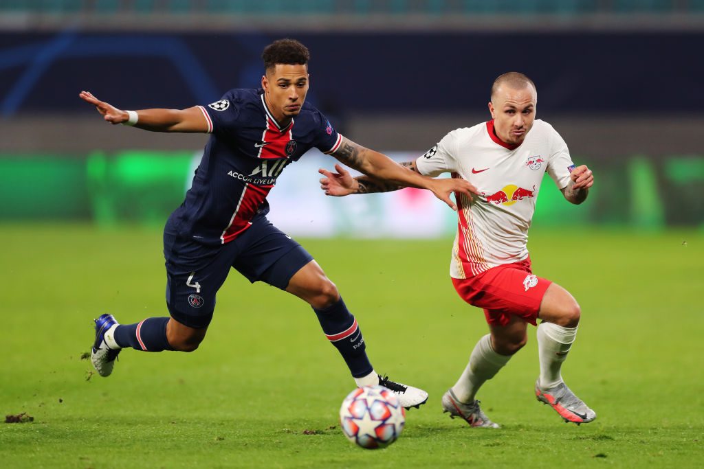 Thilo Kehrer impressing for PSG against Leipzig in the Champions League