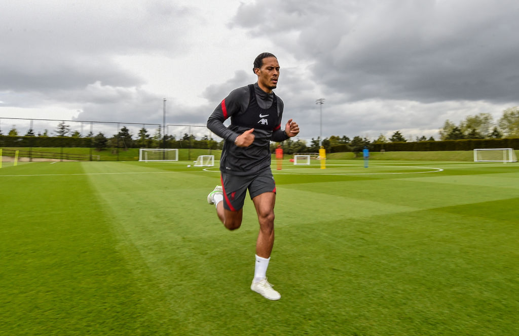 Virgil van Dijk is back to full training with Liverpool after a lengthy injury.