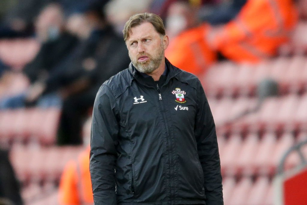 Southampton boss Ralph Hasenhuttl on the touchline at St Mary's