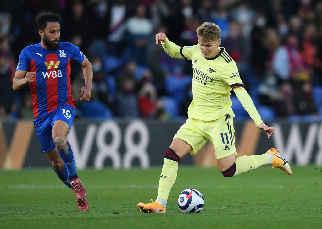 Odegaard in action for Arsenal