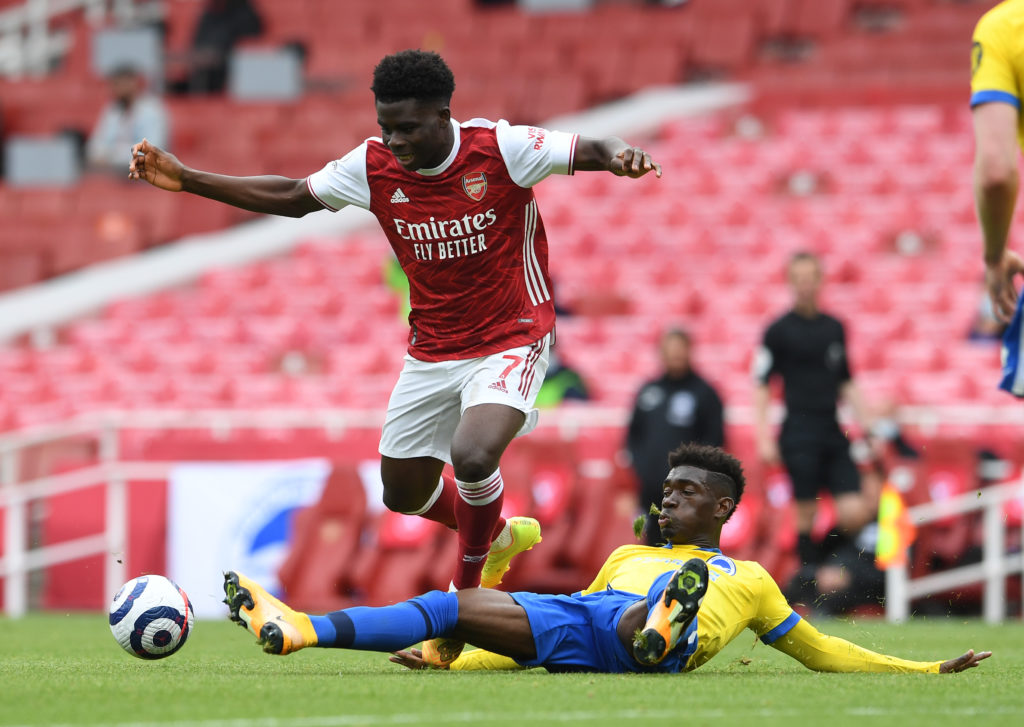 Bissouma in action against Arsenal for Brighton