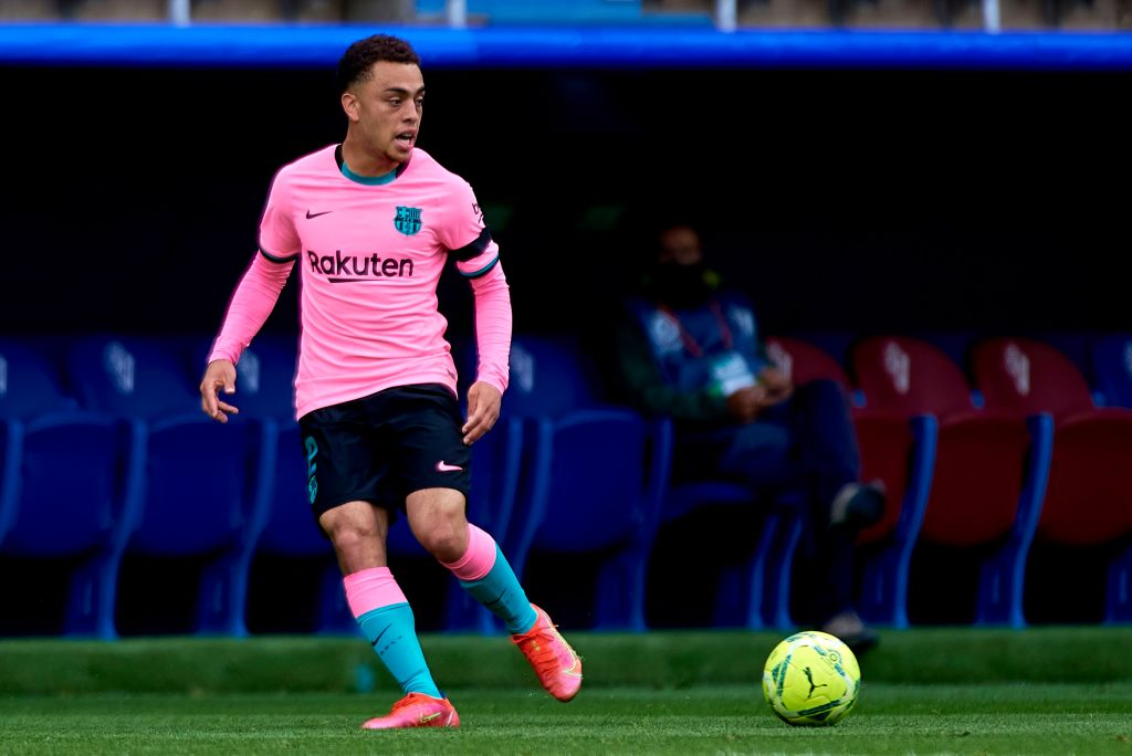 Sergino Dest in action for Barcelona against Eibar this past season
