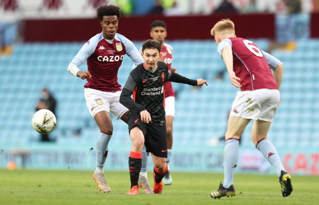 Aston Villa won the FA Youth Cup this week against Liverpool.