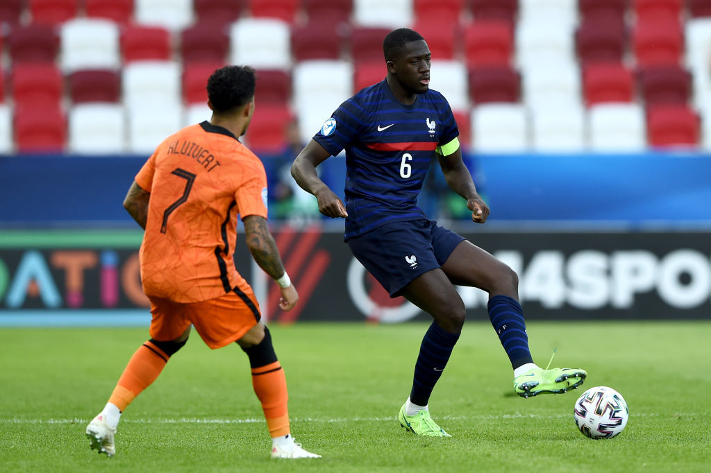 New Liverpool signing Ibrahima Konate in action for France under-21s on Sunday