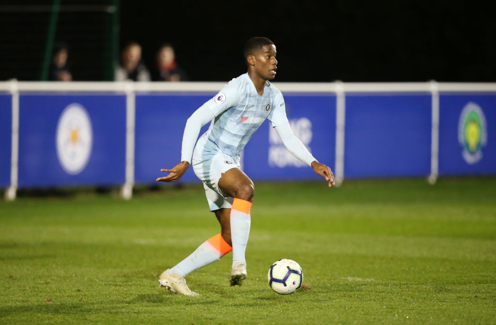 Pierre Ekwah turning out for Chelsea's U18s
