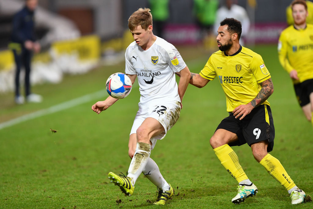 Celtic transfer target Rob Atkinson in action for Oxford United