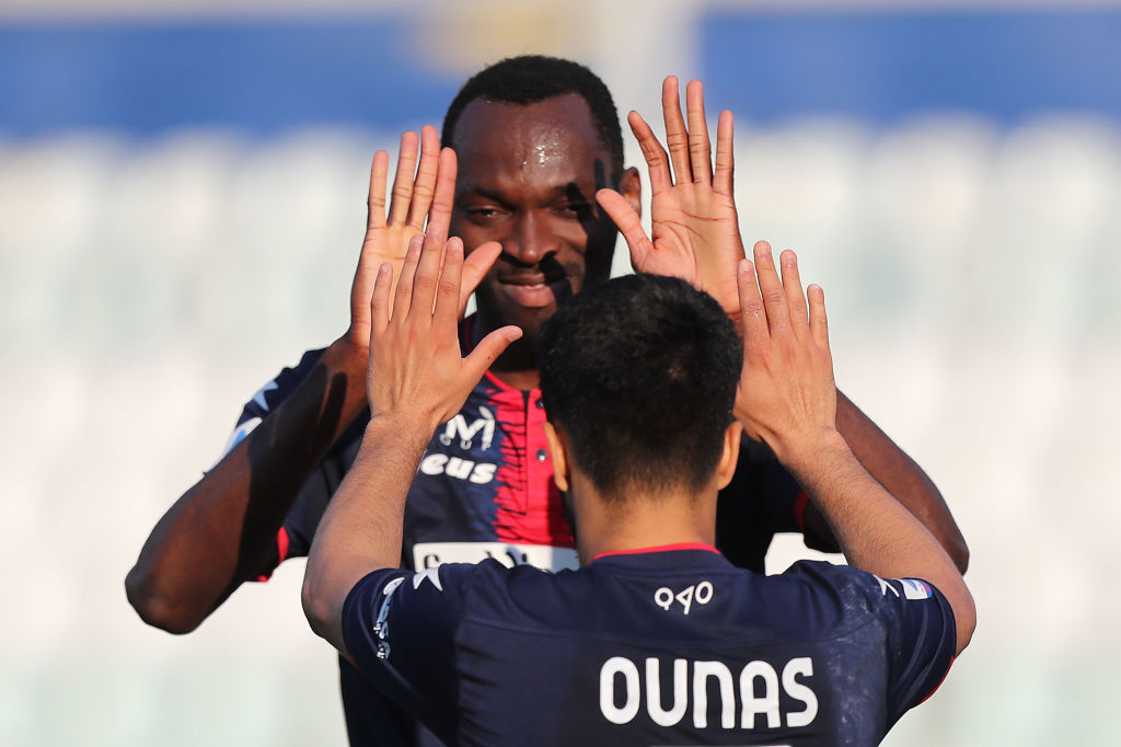 Simy in action for Crotone