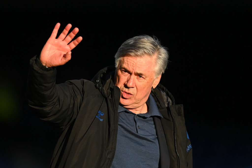 former-everton-manager-carlo-ancelloti-waves-supporters-wolverhampton-wanderers-goodison-park-premier-league