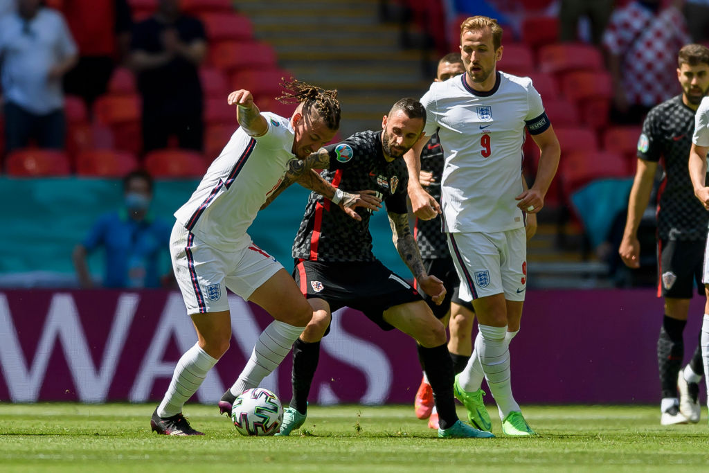Leeds United star Kalvin Phillips in action for England at Euro 2020