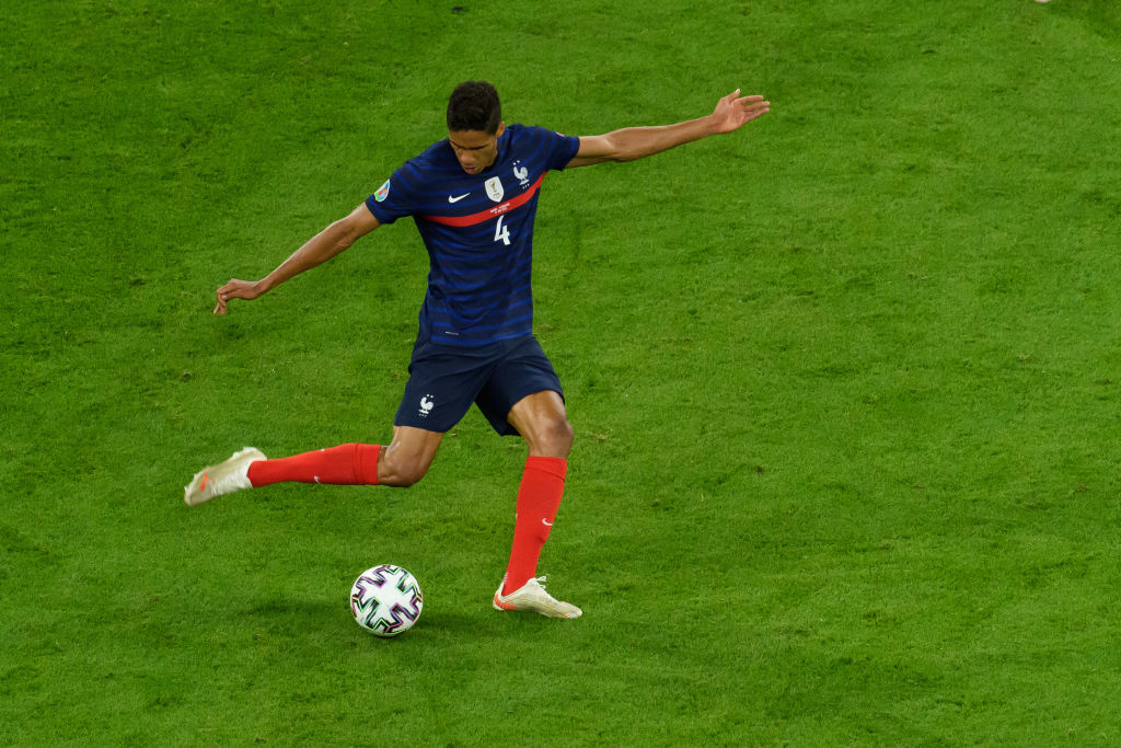 Varane in action for France at the Euros