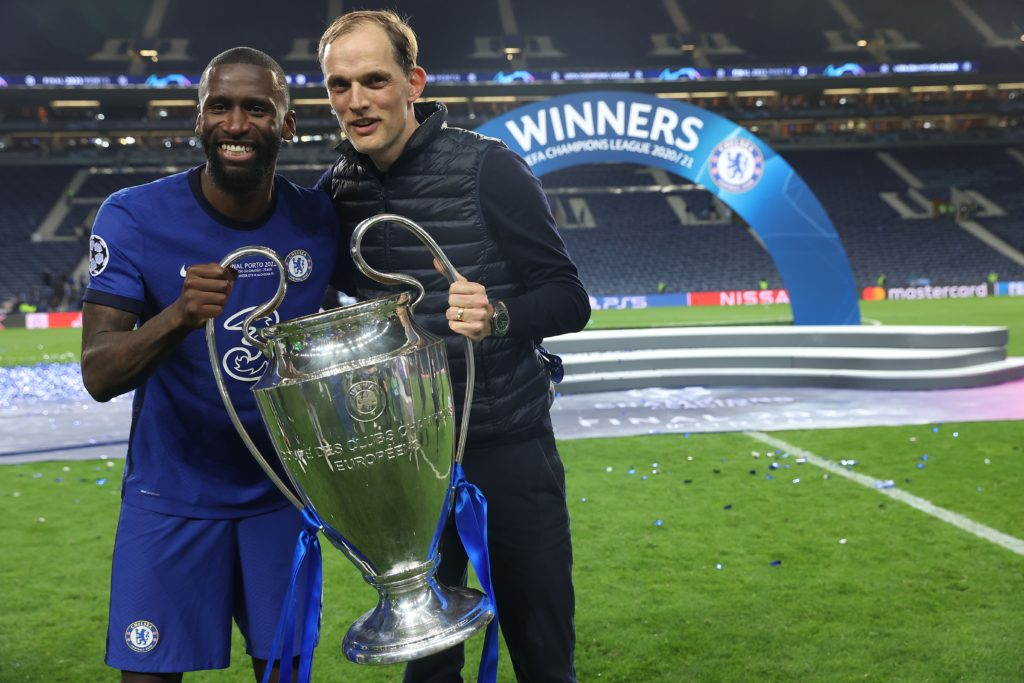 Rudiger wins the Champions League with Chelsea