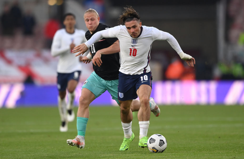 Grealish in action for England