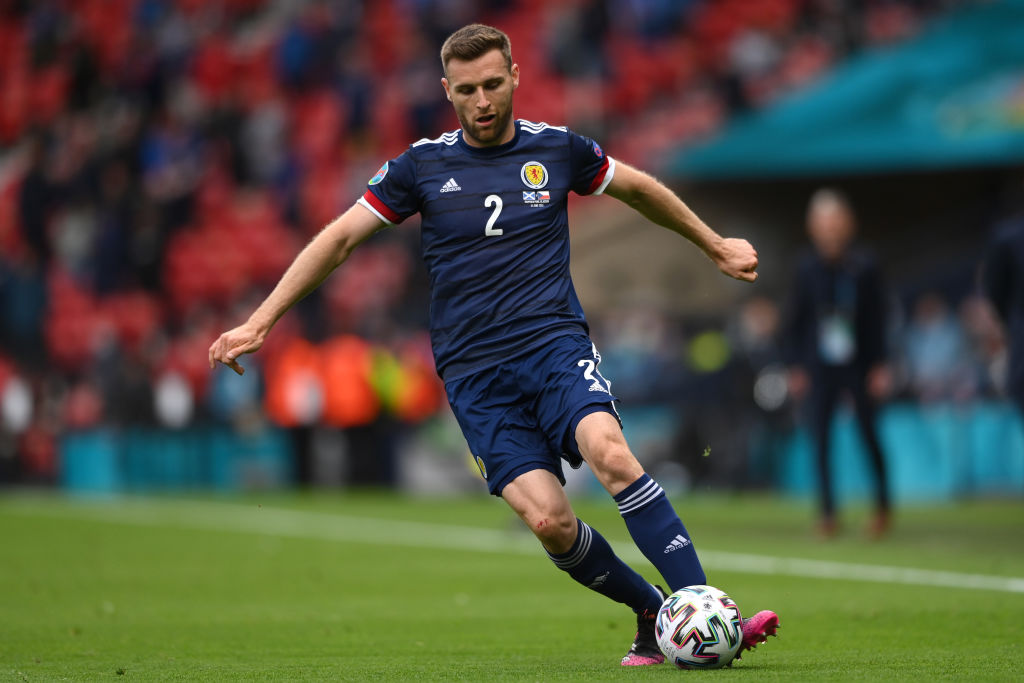 Stephen O'Donnell struggled as Scotland suffered defeat in their Euro 2020 opener