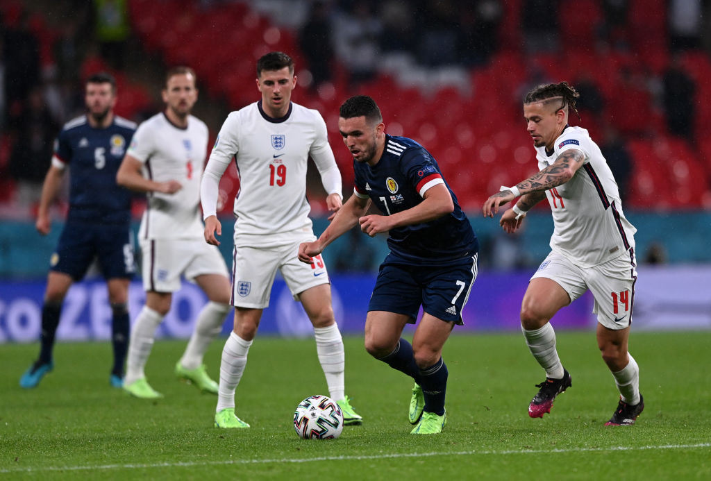 Kalvin Phillips in action for England against Scotland