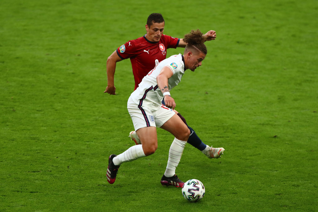 Kalvin Phillips in action for England in their final Euro 2020 group game