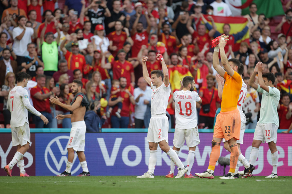 The Manchester City star scored and assisted for La Roja.