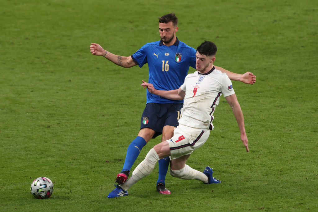 Declan Rice has been lauded after England lost the Euro 2020 final
