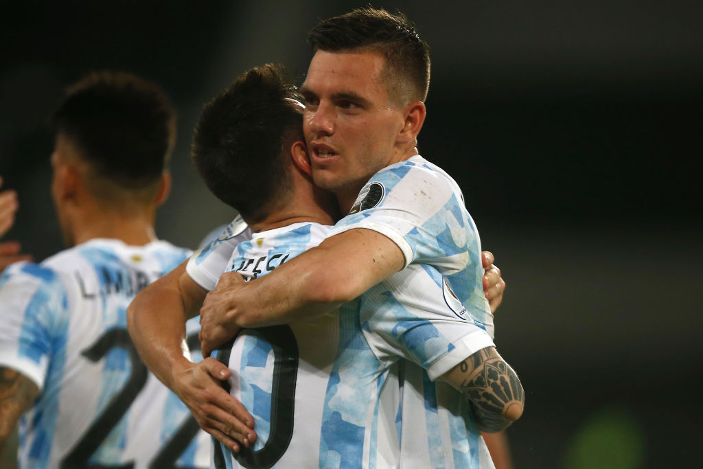Spurs ace Giovani Lo Celso and Argentina teammate Lionel Messi