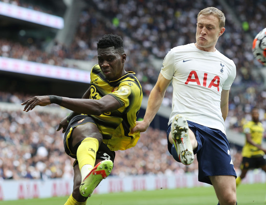 Ismaila Sarr in action against Spurs
