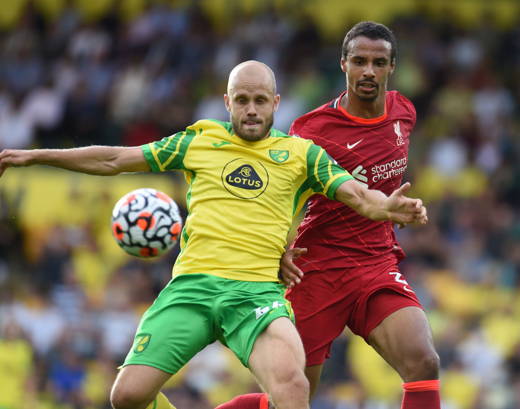 Joel Matip in action for Liverpool against Norwich