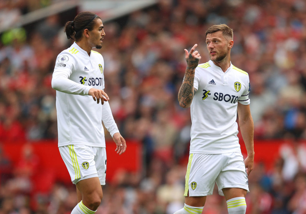 Liam Cooper in action as Leeds face Manchester United