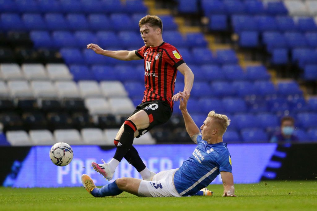Leif Davis made his full Bournemouth debut