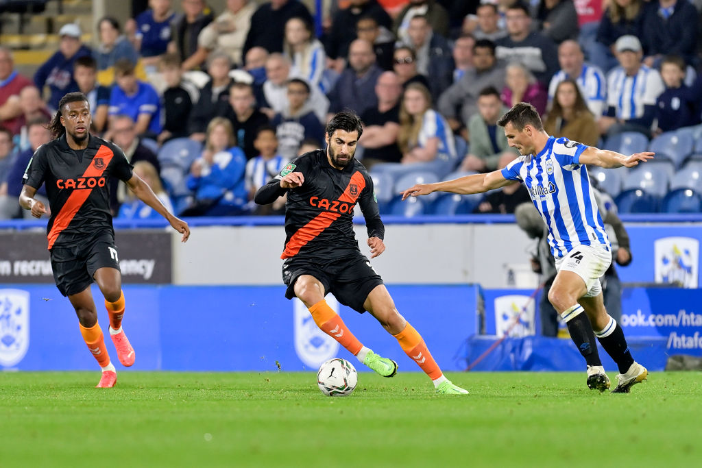 Andre Gomes in action for Everton against Huddersfield