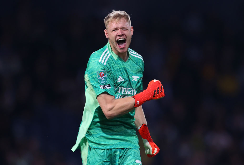 Arsenal goalkeeper Aaron Ramsdale has reportedly told friends that he is in line to star next weekend's Premier League fixture against Norwich City.