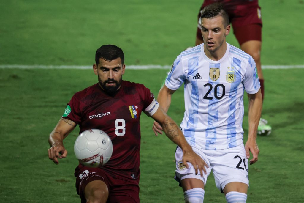 Spurs midfielder Giovani Lo Celso was in World Cup qualifying action for Argentina last night