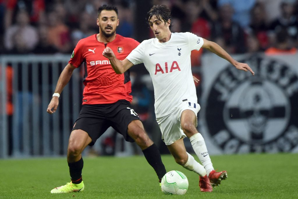 Spurs ace Bryan Gil in action against Rennes
