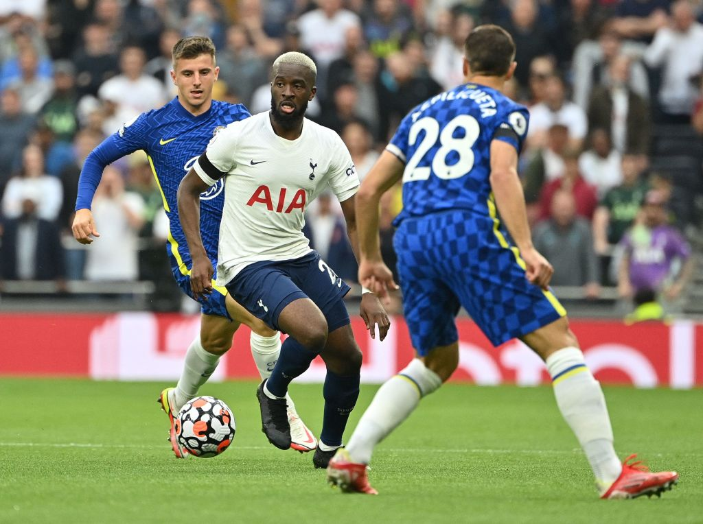 Tanguy Ndombele in action for Spurs