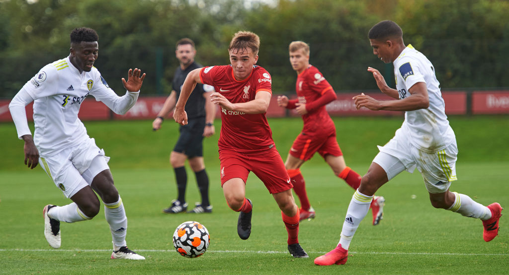 Leeds United under-23s in action against Liverpool under-23s