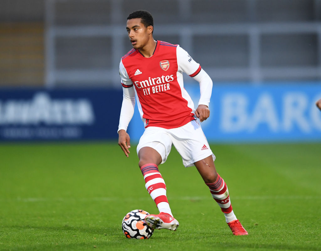 Miguel Azeez in action for Arsenal under-23s