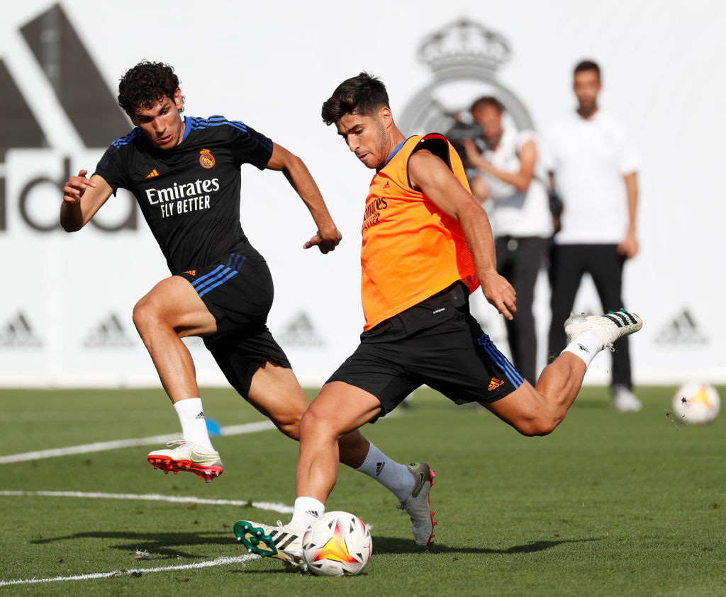Marco Asensio training at Real Madrid