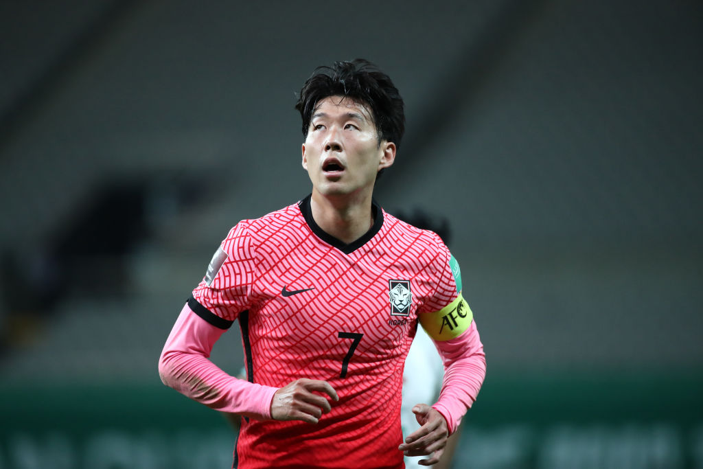 Spurs ace Son Heung-min in action for South Korea