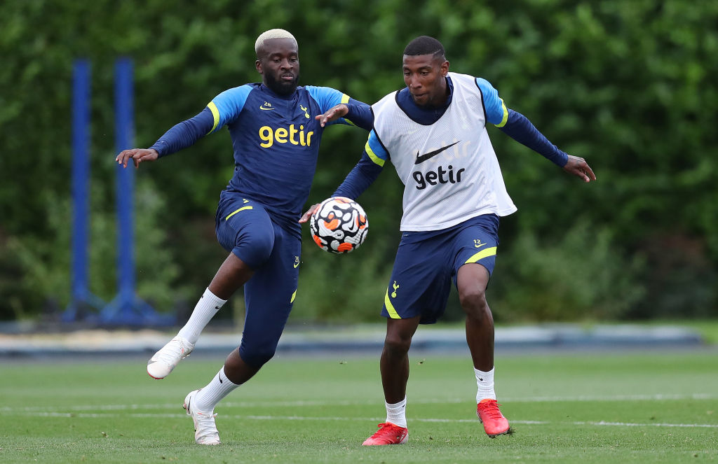 Tottenham Hotspur Training Session Spurs duo Tanguy Ndombele and Emerson Royal